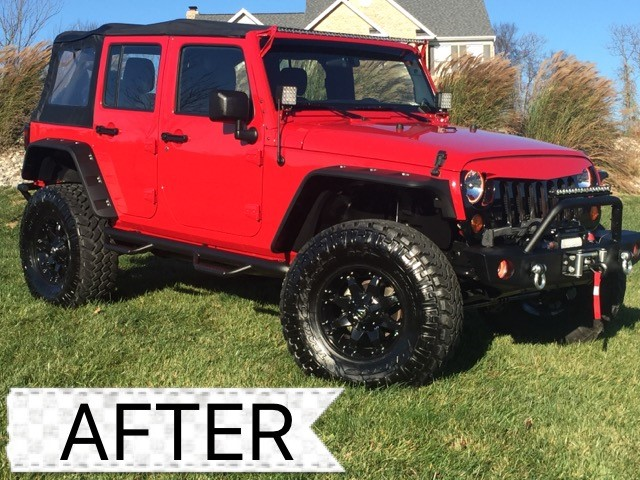red jeep after